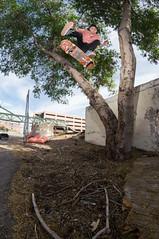 Lazer Crawford heelflip (memoryhousemag) Tags: arizona phoenix skateboarding fisheye hosoiskateboards memoryhousemag