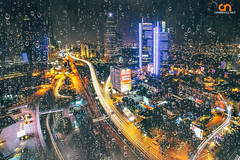 rainy day in istanbul (ckiro_niku) Tags: city travel cars architecture night buildings landscape lights long exposure istanbul