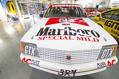 For those that like, or liked to smoke, one of the Marlboro racing commadores from the eighties. (Michael Desimone) Tags: cars museum photography michael gm head wheels australia racing smoking gas tires motors marlboro motor petrol 500 bathurst 1000 v8 fuel holden shepparton vh diplay vk comodore 3630 desimone voxhaul