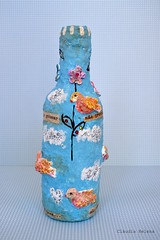 Birds... (* Cludia Helena * brincadeira de papel *) Tags: flowers brazil birds brasil bottle joy papermache papelmache alegorias cludiahelena