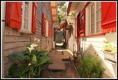 Les volets rouges (Les photos de LN) Tags: ruelle plage cabane volets alle bassindarcachon pcheurs lherbe aquitaine impasse rouges gironde villageostricole