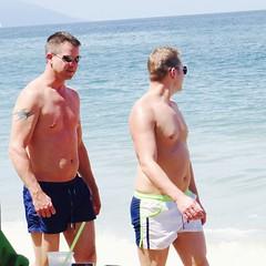 IMG_1085 (danimaniacs) Tags: shirtless man hot sexy guy beach tattoo trunks swimsuit stud