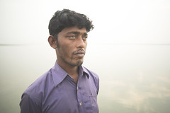 River Eyed Man (Ovhiik) Tags: life color river eyes colorful char bangladesh climate humans meghna