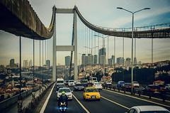 Locked in for the next two days (Melissa Maples) Tags: bridge skyline turkey nikon asia traffic trkiye istanbul nikkor bosphorus vr afs  18200mm  f3556g  18200mmf3556g d5100