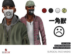 OUT NOW! Surgical Face Masks @ Seasons Story (Bhad Craven 'Bad Unicorn') Tags: life new original portrait urban game art fashion work photography design photo blog store 3d clothing high graphics shadows sad faces graphic image mesh photos pics top quality profile bad picture progress wip sl gaming secondlife definition second production characters hd concept unicorn exclusive bu craven smileys gfx  concepts 2l buc meshes meshed lindens bhad badunicorn