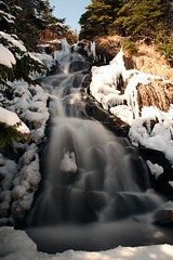 Waterfalls (Karen_Chappell) Tags: longexposure snow canada newfoundland landscape spring scenery scenic falls waterfalls nfld eastcoasttrail avalonpeninsula nd110