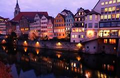 Am Neckar am Abend -  Tbingen Neckar Riverfront  - (eagle1effi) Tags: germany deutschland tuebingen tbingen tubingen wrttemberg platanen eagle1effi dibenga
