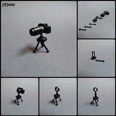 Tripod ([E]ddy) Tags: camera collage lens lego bricks tripod instructions