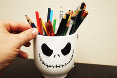 Day 2668 - Day 112 (rhome_music) Tags: halloween canon jack photography nbc eos 7d mug jackskellington coloredpencils dailyphoto nightmarebeforechristmas dayinthelife photojournal pencilcup year8 canonphotography 365days apicaday 365more 365alumni musingsandramblings 2016yip 2016inphotos daysin2016 photosin2016 365daysyear8 365days2016