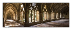 CLAUSTRO DEL REAL MONASTERIO DE SANTA MARÍA DE  VERUELA (Juan J. Marqués) Tags: zaragoza cisterciense gotico claustro aragón veruela bécquer
