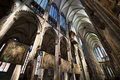Cologne Cathedral (marvinmhl) Tags: light church architecture angle cathedral dom wide cologne kln lightbeams weitwinkel