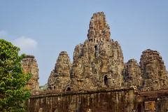 Bayon temple in the ancient city of Angkor Thom near Siem Reap, Cambodia (UweBKK ( 77 on )) Tags: building heritage architecture ancient ruins asia cambodia kambodscha khmer faces sony religion towers culture historic temples siem reap thom historical southeast alpha dslr angkor past archeology 77 slt archeological bayon
