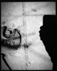 water meter nd phone (karenchristine552) Tags: cameraphone usa selfportrait philadelphia spring westphiladelphia pennsylvania pa philly westphilly universitycity iphone selfie cedarpark mobilephotography hipstamatic