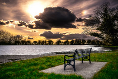 Thoughts (Ray Moloney Photography) Tags: park trees light summer sky sun sunlight lake black tree water beautiful beauty clouds bench rays waterside 500px ifttt