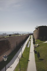 overview (ConcreteLies) Tags: blue sky brick green lamp grass clouds landscape outside outdoors pavement citadel walls posts