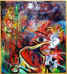 el dicharachero (#Jarama) Tags: red portrait collage paper rojo acrylic pop popart expressionism