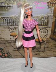 1995 Crystal Splendor Platinum Barbie Doll (The doll keeper) Tags: pink black fashion outfit doll dress crystal barbie ponytail 1995 easy platinum finds splendor 2983