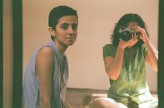 (maryam_mzadeh) Tags: girls light film me girl self mirror fuji canonae1  zahra selfie