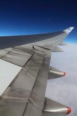(Kai M.) Tags: plane canon horizon flight wing boeing combi 747400 60d