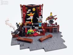 The Clockwork Show (empty) (burningblocks) Tags: robot dance lego stage entertainment empire ottoman middle eastern mech steampunk moc