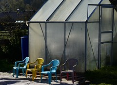Waiting for visitors (:Linda:) Tags: germany four chair thuringia greenhouse veilsdorf