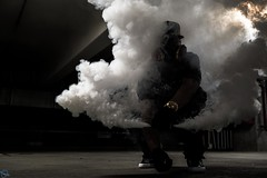 Smoked out (ATOM1_Productions) Tags: urban streets night underground nocturnal smoke structure infrastructure gasmask nightscene grenade invicta smokebomb nightshooter