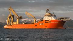 Normand Installer (rjonsen) Tags: mountain snow norway ship crane offshore vessel testing fjord normand installer seatrials klosterfjorden