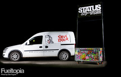 Status Error Van & Point Of Sale (Dan Fegent) Tags: girls white lightpainting boys composition fun eos japanese se design clothing awesome text transport designs shows merchandise van fullframe zombies technique mechanic alloys jdm garments pos flightcase lightpaint streetware pointofsale tradestand fueltopia canon1dx statuserror spannergirl