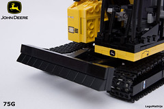 07_dozer_blade (LegoMathijs) Tags: road scale yellow john chains team model lego display technic dozer blade snot deere compact excavator moc 75g foitsop decalls legomathijs