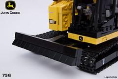 07_dozer_blade (LegoMathijs) Tags: road scale yellow john chains team model lego display technic dozer blade snot deere compact excavator moc 75g foitsop decalls legomathijs