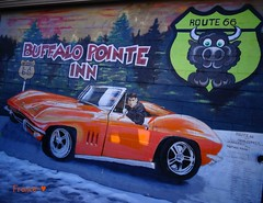 Route 66. (France-) Tags: arizona usa route66 automobile williams 360 voiture mots murale historicroute66