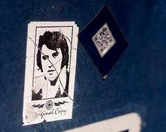 Elvis w/ QR code (marcn) Tags: us unitedstates newhampshire nh photowalk daytrip nashua nashuanh nashuastreetpianos