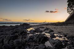 Down Amongst The Rockpools (duncan_mclean) Tags: city sunset beach landscape evening rocks cityscape dusk auckland devonport rockpools