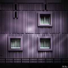 Paris_0316-7 (Mich.Ka) Tags: urban abstract paris color architecture town purple line btiment couleur ville faade immeuble purplerain ligne urbain abstrait beaugrenelle grafic graphique