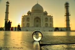 Taj Mahal at sunset (Rushy9495) Tags: india ball taj tajmahal agra crystalball