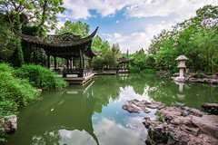 Fuzhuang Garden, Hefei, China (Picocoon图茧) Tags: china trees cloud green classic weather garden spring pond day cloudy chinese pavilion rockery anhui hefei baohe