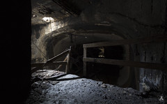 Metro 2033 (AnotherStepAway) Tags: old urban cold industry water dark underground mine industrial darkness exploring low tracks deep ground mining explore forgotten mines below lantern exploration carts ore miner gaslight urbex