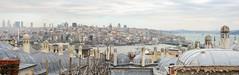 Panorama of Beyoglu District, Istanbul (taipan_pl) Tags: winter panorama turkey district trkiye istanbul mosque beyoglu sleymaniye constantinople byzantium beyolu stanbul