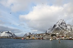 Reine. (mariya_ka) Tags: ocean sky snow nature norway clouds landscape spring travels northern lofoten reine tamron2470 nikond600