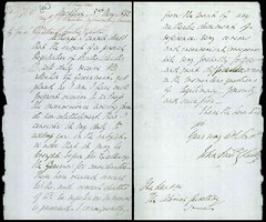 Reverend John Churtons letter to the Governor regarding the need for official registry of births and deaths, 1842 (Archives New Zealand) Tags: nz archives marriages record keeping births deaths
