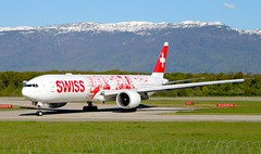 Swiss (People's Plane Livery). Boeing 777-3DE(ER). HB-JNA. LX2802. (Themarcogoon49) Tags: switzerland airport swiss aircraft boeing planespotting b777 gva cointrin avgeek b77w