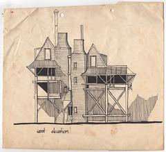 Logan House - Athfield Architects (Peter Rush - drawings) Tags: house sketch concept logan elevation ianathfield