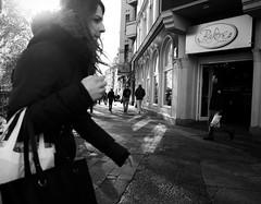 always on the run (tom_p) Tags: street girl blackwhite bonn fuji noiretblanc streetphotography fujifilm mdchen mnster x70 schwarzweis biancoetnero fujifilmx70