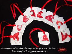 Geschenkanhaener (wandklex Ingrid Heuser freischaffende Künstlerin) Tags: ingrid watercolor foto etsy comission malerei heuser dawanda auftragsmalerei wandklex
