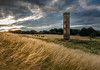 Cammo Water Tower (roseysnapper) Tags: sunset sky plant field grass landscape scotland edinburgh outdoor watertower lensflare serene hay folly cammo abigfave nikond810 nikkor1424f28