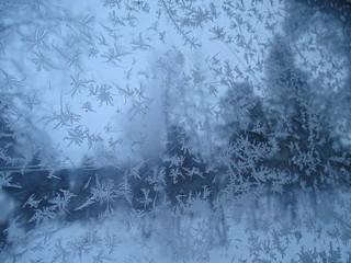 ice cristals on window