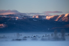 FIFTEEN BELOW (laura's POV) Tags: ranch morning winter house mountain mountains cold west nature beautiful dawn daylight freezing jackson explore valley chilly wyoming tetons wildwest mothernature jacksonhole alpenglow brutal subzero lauraspointofview lauraspov