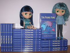 BaD: 10th January 2016 - Library (Calendar girl 48 / grannygreen) Tags: blue library bonnie zuzu mybook blythedolls badjan2016