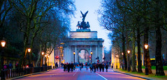 Wellinton Arch memorial gate in Hyde park (martinmottl1) Tags: park uk london monument hyde