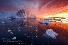 Fire and Ice (fotoflatratech) Tags: pink red summer sky ice clouds sunrise circle fire bay arctic greenland iceberg icebergs disko 500px ifttt fotoflatrate